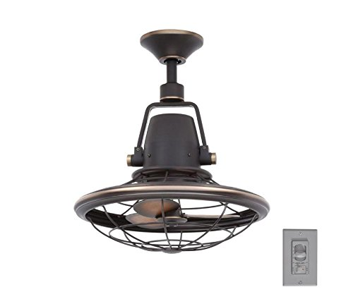 Home Decorators Collection Bentley II 18 Inch Indoor and Outdoor Tarnished Bronze Oscillating Ceiling Fan with Wall Control