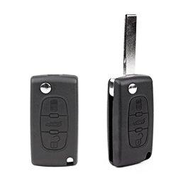 Foxnovo-Remplacement-portable-3-boutons--distance-entre-Keyless-pliant-Flip-Shell-Fob-Coque-cl-plip-Peugeot-207-307-308-407-607-Noir