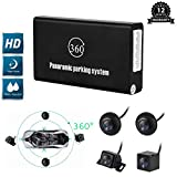 CarThree 360 Degree Bird View Panoramic System 4 HD Cameras Around View System with DVR Parking Monitoring Driving Record Universal Rear View Cam for All Car