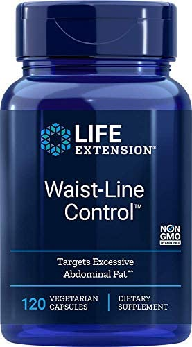 Life Extension Waist-Line Control Peptide Complex Supports Energy Conversion, Calorie Intake Reduction & Reduced Accumulation of Belly Fat - Non-GMO, Gluten-Free - 120 Vegetarian Capsules 1