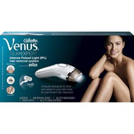 Braun-Gillette-Venus-Silk-Expert-IPL-5001-Intense-Pulsed-Light-300000-Flashes-Face-Body-Hair-Removal-System-with-Razor