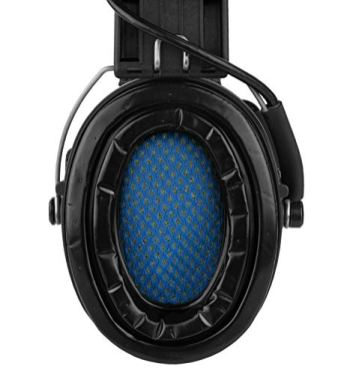 Sordin-Supreme-PRO-Noise-Reduction-Hearing-Defender-Active-Adjustable-Earmuffs-with-Gel-Seals-Leather-Headband-and-Green-Cups