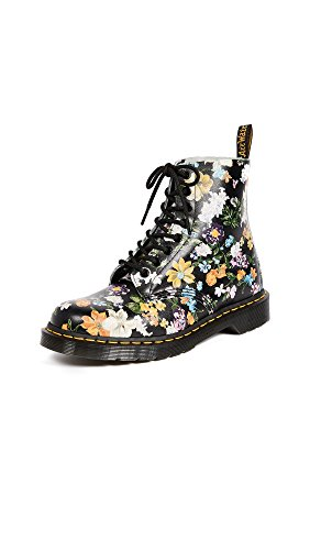 Dr. Martens Women's Darcy Floral Pascal DF Ankle Boot, Black, 3 Medium UK (5 US)