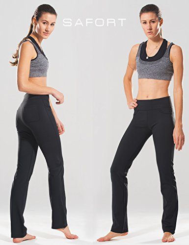 Yoga pants with back flap pockets