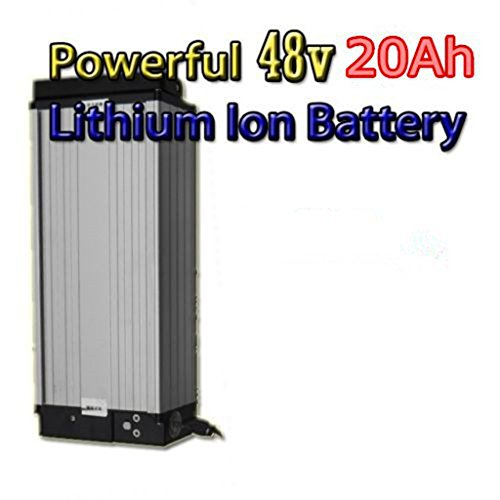 48V 20Ah Lithium Battery with 4A Charger, High Powerful 48V 1500W Electric Bike Battery , E-bike Battery 48V 20Ah for Electric Bicycle and 1000W/1500W Motor.