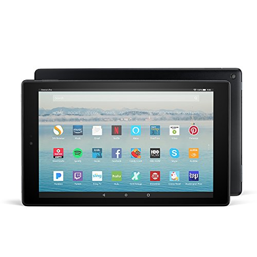 Fire HD 10 Tablet with Alexa Hands-Free, 10.1' 1080p Full HD Display, 32 GB, Black