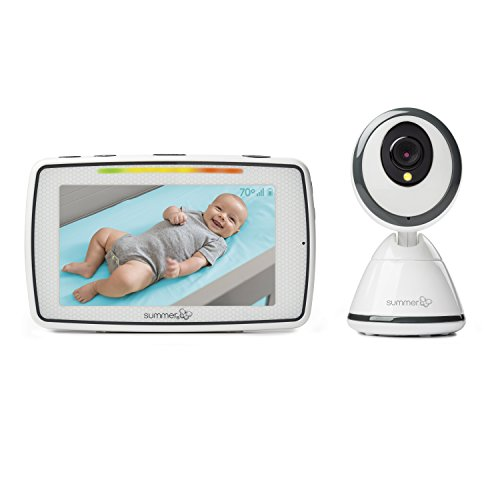 Summer Baby Pixel Video Baby Monitor with 5-inch Touchscreen and Remote Steering Camera - Baby Video Monitor with Clearer Nighttime Views and SleepZone Boundary Alerts