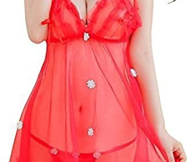 Goodluck Red Hot Sexy Nighty Babydoll Nightwear Dress For Women Girls With Panty G String Free Size Amazon In Clothing Accessories