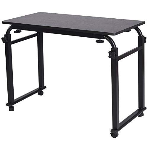 Overbed-Table-with-Wheels-Laptop-Stand-Cart-Over-The-Bed-Table-Hospital-Bedside-Table-Mobile-Desk-Adjustable