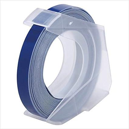 ダイモ:ダイモテープライター用テープ マシューズテープ(6mm幅) 青 幅6mm×長3m RM906BU 24587