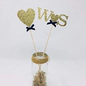 Couple initials and heart centerpiece. SET OF 2. Bridal shower table decor. Hen party decoration ideas. Engagement centerpiece. 41VVNKj7EhL
