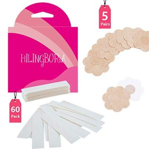 HILINGBORA Beauty Tape(60 pack) Double Sided For Body & Adhesive Bra Petal Tops
