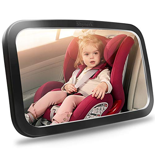 Shynerk Baby Car Mirror, Safety Car Seat Mirror for Rear Facing Infant with Wide Crystal Clear View, Shatterproof