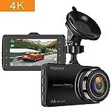 TOGUARD Dash cam 4K UHD Car Dash Camera 3'' LCD Dashboard Camera with 170°Wide Angle, Super Night Vision, Parking Mode, Loop Recording Black