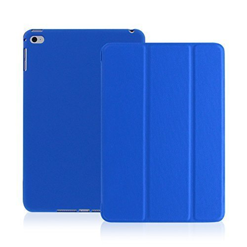 KHOMO iPad Air 2 Case - Dual Series - Ultra Slim Cover with Auto Sleep Wake Feature for Apple iPad Air 2nd Generation Tablet, Twill Blue (ip-air-2-dark-blue-2)