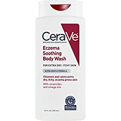CeraVe Eczema Soothing Body Wash 10 oz with Omega Oils and Ceramides for Cleansing and Calming Dry, Itchy, Eczema Prone Skin