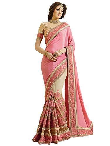 Nivah Fashion Women's Woven Net Saree With Blouse Piece