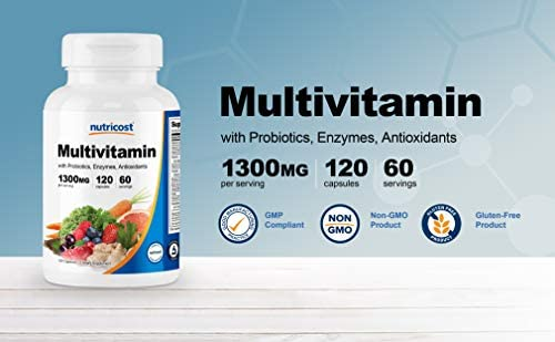 Nutricost Multivitamin 120 Veggie Capsules - with Probiotics, Enzymes, and Antioxidants 3