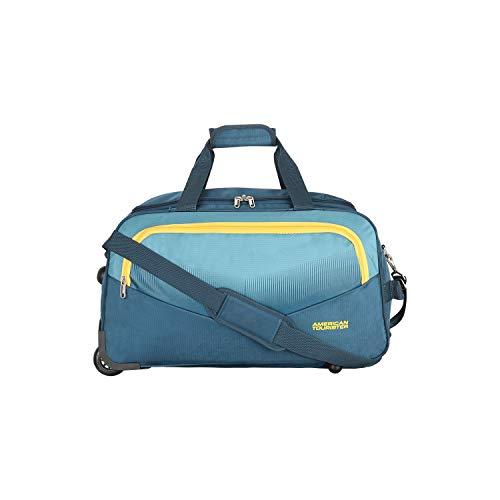 41VilOYTy5L - American Tourister Ohio Polyester 65 cms Blue Travel Duffle (FJ9 (0) 01 002)
