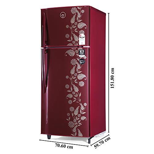41VkccVItvL Godrej 255 L 2 Star Inverter Frost-Free Double Door Refrigerator (RF EON 255B 25 HI SC DR, Scarlet Dremin)