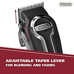 Wahl Clipper Elite Pro High Performance Haircut Kit for men, includes Electric Hair Clippers, secure fit guide combs with stainless steel clips - By The Brand used by Professionals #79602  Image 4