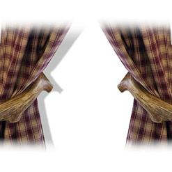Antler Curtain Holdback Hooks