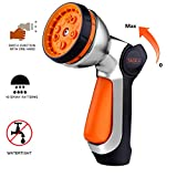 TACKLIFE Garden Hose Nozzle, Water Hose Nozzle with 10 Patterns of Spray, Ideal for Plants Watering, Car Washing and Pets Showering - GSG1A
