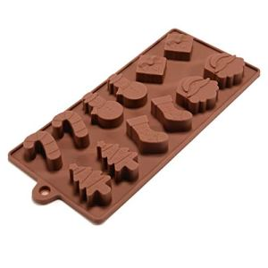 Allforhome Silicone Chocolate Moulds Snowman Shaped Christmas Tree Shaped Cake Candy Mould Jelly Ice Tray for Handmade DIY by TheBigThumb 41Vu 2BE6tSyL