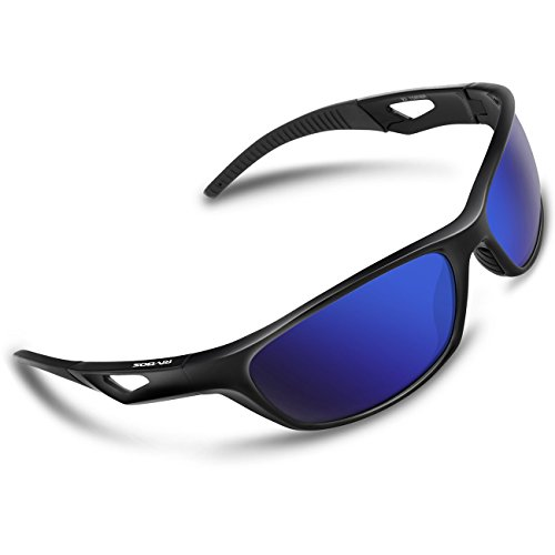 RIVBOS Polarized Sports Sunglasses Driving Glasses Shades for Men Women TR90 Unbreakable Frame for Cycling Baseball RB831