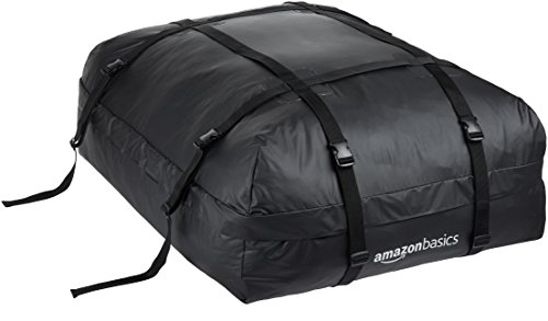AmazonBasics Rooftop Cargo Carrier Bag, Black, 15 cu. ft.
