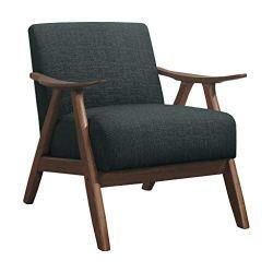 Lexicon Fabric Accent Chair, Dark Gray