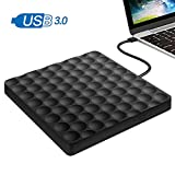 GEEKLIN External CD Drive,High Speed Data Transfer for External cd DVD Drive for Laptop,USB 3.0 Portable CD DVD +/-RW Optical Drive Burner Writer
