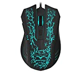 Havit Gaming Mouse RGB Wired,6 Adjustable USB Ergonomic Computer Mice with 6 Buttons for Laptop PC Gaming (Breathing)