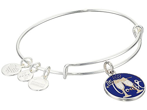 Alex and Ani Womens Let's Toast Bracelet Shiny Silver One Size
