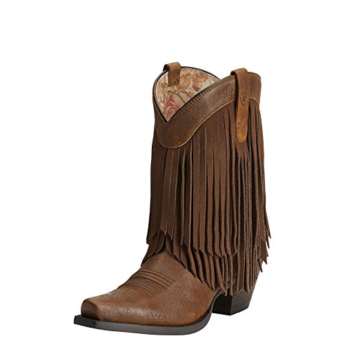 Ariat Womens Gold Rush New West 9 B Terra Brown