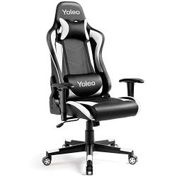 Gaming Chair – Yoleo Ergonomic Office Gaming Chair with Lumbar Support, High Back Computer Gamer Chair Backrest and…
