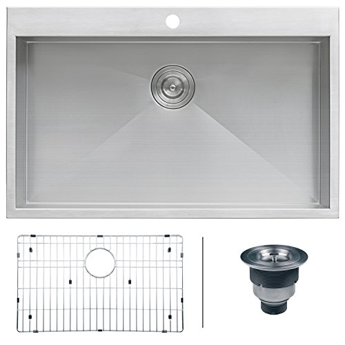 Kitchen Sink Buy Best kitchen sink reviews top picks and ultimate buying guide 2018 ruvati rvh8000 drop in overmount 33 x 21 kitchen sink 16 gauge stainless workwithnaturefo