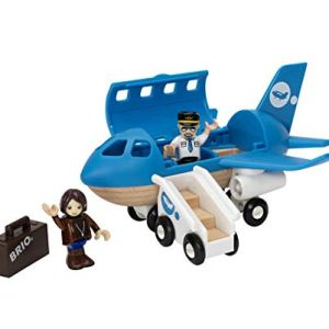 BRIO World – 33306 Airplane | 5 Piece Wooden Airplane Toy for Kids Ages 3 and Up 41W55efs3GL