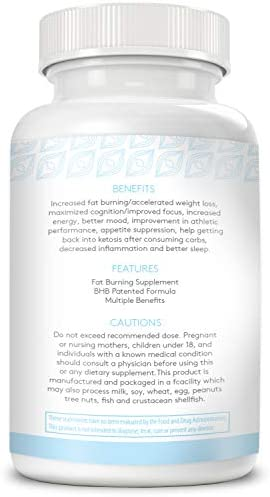 Keto BHB Supplement Made in USA Keto Pills Help Promote Weight Loss -Ketones Supplement Burns Fat Rather Than Glucose (60x Keto Pills) 5