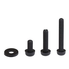 Litorange-320PCS-M2-Male-Female-Nylon-Hex-Spacer-Standoff-Screw-Nut-Assorted-Assortment-Kit-Black