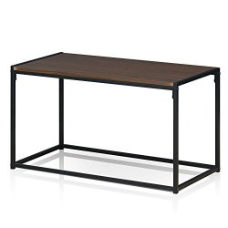FURINNO Modern Coffee Table, Dark Walnut