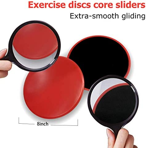5 Exercise Resistance Loop Bands for Booty Building with 2 Dual Sided Core Sliders for Strength Training - Fitness Loops for Hips and Leg- Premium Exercise Equipment for Home Travel Gym 4