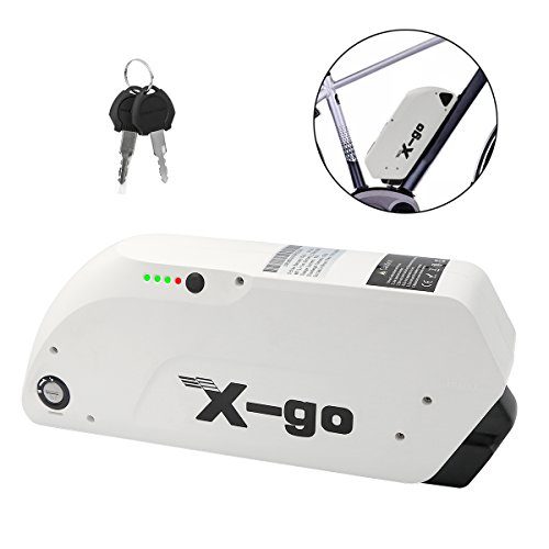 X-go Electric Bike Battery, 48V 12AH Battery for Electric Bike Electric Li-ion Power Bicycle