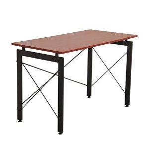 HomCom 47-Inch Computer Table, Brown
