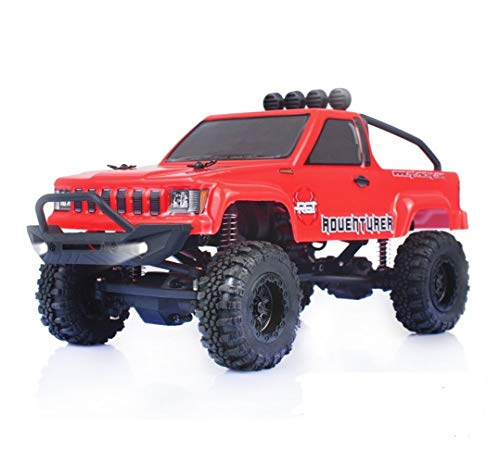 RGT RC Crawlers 1/24 Scale 4WD Off Road RC Car 4x4 Mini Monster Truck RTR LiPo Rock Crawler Adventurer D90 with Lights (red)