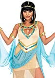 Leg Avenue Womens 3 Pc Sexy Gold Cleopatra Costume, Small/Medium