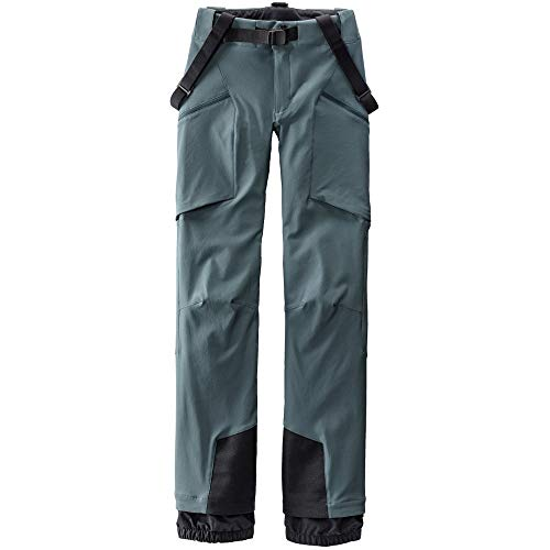 514AFI%2BuNUL Four-way stretch fabric + Offset mesh-backed vents Snow gaiters + Boot-access zippers Integrated, removable belt and belt-loop waist