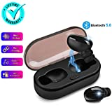 Wireless Earbuds,Bluetooth Earbuds Wireless Earphones with Mic Charging Case,Sport Running Mini True Stereo Earbuds Bluetooth Compatible iOS Android Samsung Phones X 8 7