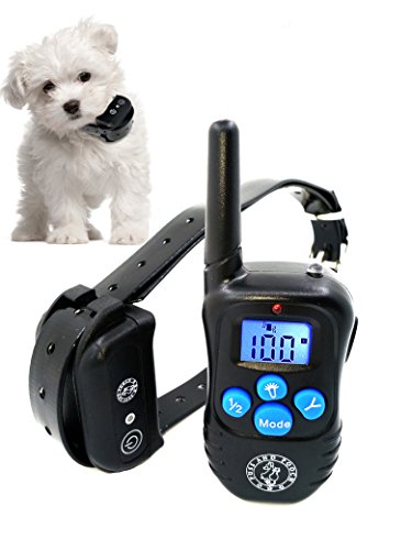 Dog Training Collar - Dog Remote Training Collar 300 Meter Range Static Shock Collar w/Humane Vibration & Beep Option