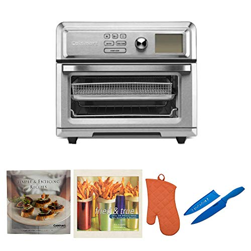 Cuisinart TOA-65 AirFryer Toaster Oven Includes Knife, 2 Cookbooks and Oven Mitt Bundle